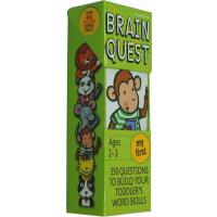 【英文原版】大脑任务 Brain Quest My First 智力开发卡片书 2-3岁益智 畅销儿童启蒙