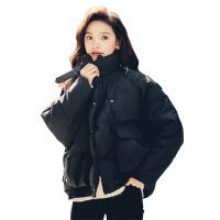 女冬季新款韩版宽松学生bf小棉袄短款加厚外套面包服