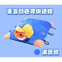 泰国进口天然乳胶抱枕可爱卡通枕儿童学生小孩宝宝动物健康趴枕头定制 蓝色 波鲁鲁