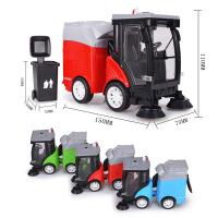 仿真城市清洁车 垃圾车合金车模型 儿童声光回力玩具车批发
