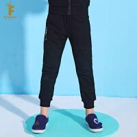 法纳贝儿童装男童2018新款时尚运动风中腰长裤 BH1K06