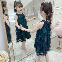 2019新款韩版洋气小女孩公主裙儿童吊带背心裙子女童夏装连衣裙