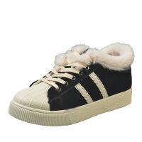 棉鞋女冬新款韩版百搭学生流苏加绒保暖帆布鞋原宿平底女板鞋