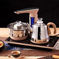 【优选】全自动上水壶电热烧水壶家用一体抽水茶具电磁炉煮器茶台泡茶专用 金色