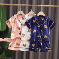 儿童睡衣夏季薄款短袖男孩女童家居服套装宝宝空调服