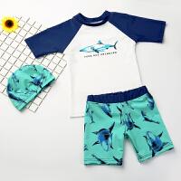 儿童泳衣男童中大童分体游泳衣男孩宝宝套装小童泳装游泳装备