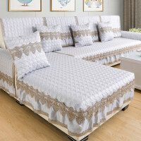 欧式布艺沙发垫四季通用沙发套全包�f能套全盖防滑简约现代靠背巾定制