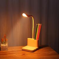 led多功能阅读小台灯充电插电两用护眼学习生宿舍书桌床头写字灯