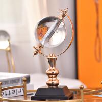 新中式轻奢玻璃地球仪摆件书房客厅创意装饰品办公室样板房 玻璃地球仪
