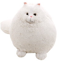 起司猫波斯猫猫咪白猫毛绒玩具公仔抱枕大号布娃娃儿童圣诞节礼物抖音 波斯猫