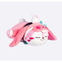 梦奇睡觉觉毛绒玩偶 可爱粉猫公仔玩具抱枕