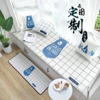 来图定制飘窗垫现代简约窗台垫卧室榻榻米阳台垫子海绵垫飘窗坐垫 来图定制 定制尺寸