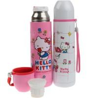 包邮 hello kitty 3619 子弹头保温杯 500ML手拎创意双盖保温水壶