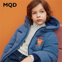 MQD童装男童19冬装连帽加厚棉衣儿童棉袄中大童