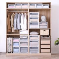 Tenma日本进口天马株式会社塑料抽屉式收纳箱宝宝衣柜衣物整理箱内衣收纳盒2个装