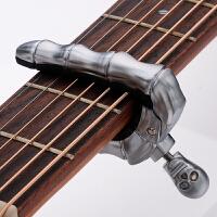 变调夹民谣吉他创意个性可爱男女通用电吉他调音器变调夹二合一