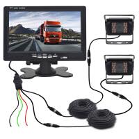 高清IPS显示器航空头红外车载摄像头货车影像可视倒车影像