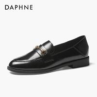 Daphne/达芙妮英伦风小皮鞋女2020新款春秋女单鞋时尚百搭乐福鞋