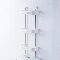 洗手间免打孔浴室置物架卫生间用品吸壁式厕所马桶塑料收纳架壁挂