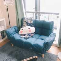 宝利嘉沙发小户型客厅卧室简易懒人沙发北欧现代简约出租房沙发床