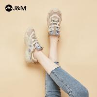 jm快乐玛丽2020秋季新款厚底透气休闲复古学生老爹鞋