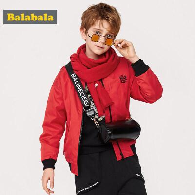 巴拉巴拉男童外套童装中大童2019新款春季儿童棉服棒球服夹克外衣