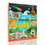 英文原版 The Adventures of Earth 地球历险记 立体翻翻书 了不起的历险系列 自然地理动植物百科