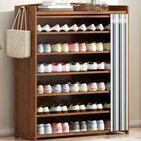 鞋柜家用门口大容量经济型实木特价多层入户无门阳台小鞋柜收纳