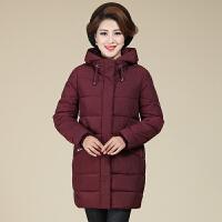 妈妈冬装外套女洋气韩版修身加大码时尚中老年棉衣女中长款加厚潮