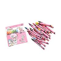 儿童蜡笔彩笔炫彩棒腊笔画画笔水彩笔油画棒24色绘画盒装文具3SN8589 粉色 24色