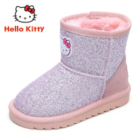【4折�r:107.6元】HelloKitty�P蒂�童鞋女童雪地靴2019冬季新款女孩中筒保暖靴子加厚K8646801