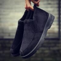 棉鞋男冬季加绒保暖加厚男士休闲鞋中老年懒人老北京布鞋