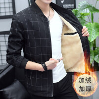 男装外套秋冬保暖夹克短款加厚立领黑色加绒棒球服青年轻薄款棉衣