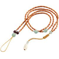 橄榄核米珠核雕橄榄胡项链手串素核雕配饰配件108节节高长串珠