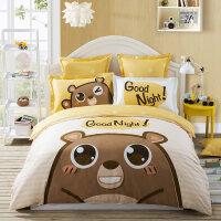 家纺床单被套三件套儿童棉卡通床上用品四件套男孩女孩-yn定制