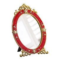 结婚用品结婚陪嫁新娘梳妆台化妆镜子 红色桃爱心上头镜 新人婚庆