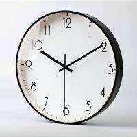 现代简约钟表家用时钟挂钟客厅个性创意时尚大气北欧卧室静音挂表 12英寸