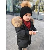 婴童子装冬母女装羽绒服白鸭绒母子装中长款加厚外套连帽