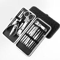 不锈钢18件套指甲钳剪修甲家用指甲刀套装工具美磨甲修脚刀