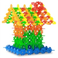 橙爱 雪花片桶装 乐高式塑料积木 塑料拼插拼装玩具儿童益智玩具