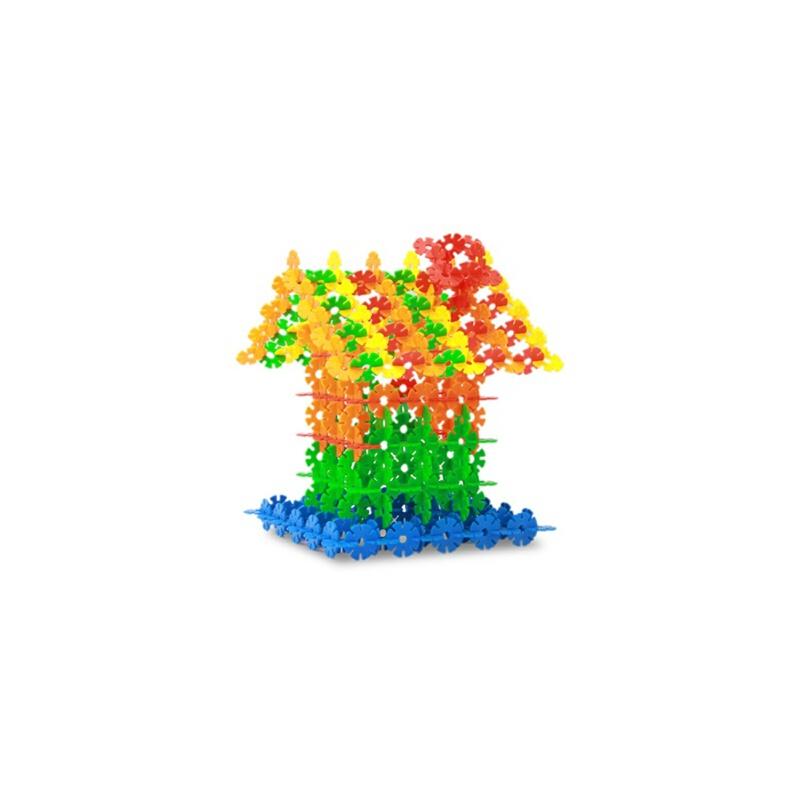 橙爱 雪花片桶装 乐高式塑料积木 塑料拼插拼装玩具儿童益智玩具益智玩具限时钜惠