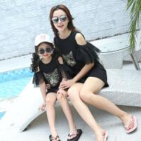 2019夏季新款潮韩版短袖T恤长款宽松连衣裙母女装夏装母女亲子装