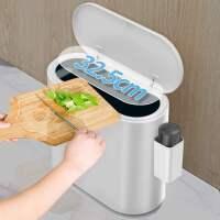夹缝垃圾桶家用有盖创意卫生间带盖客厅厨房厕所纸篓北欧卧室高档