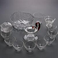 【新品】 整套耐热玻璃茶具套装 家用侧把壶红茶功夫茶具泡茶壶茶杯