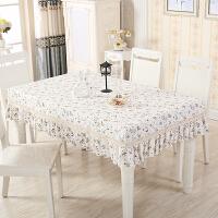 桌套桌布布艺餐桌套格子欧式桌罩正方形茶几家用棉麻小清新长方形