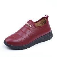 老北京布鞋冬季保暖棉鞋女士水加绒短靴加厚平底妈妈鞋棉靴