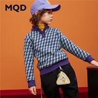MQD童装男童2019冬季新款半高领满版加厚毛衣儿童毛衣男孩打底衫