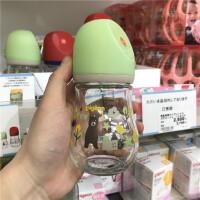 贝奶瓶玻璃宽口径新品限量版奶瓶婴儿刺猬小熊80/160