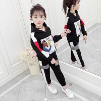 儿童韩版中大童女童秋装套装2019新款洋气小女孩童装卫衣运动服