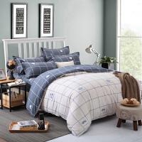 床上用品四件套1.8m被罩4简约床单3被套1.5三件套学生宿舍单人1.2